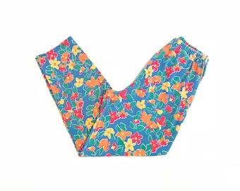 Vintage 90s Floral Pajama Pants