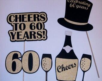 60th Birthday Photo Prop / Sensational/ Cheers /60/59ish/60th Anniversay (2182D)