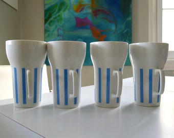 Mid Century Modern LaGardo Tackett Porcelain Mugss for Schimd Everyone Loves Ice Cream and Candy Design