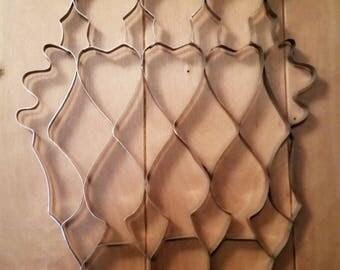 Metal Cookie Cutter Sheet Vintage Kitchen Wall Decor Accent Hearts Diamonds Spades Thistle Forms