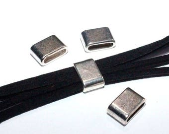 "Set of 4 ""slide"" rectangular silver plated"