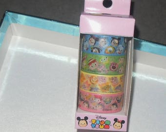 Disney Tsum Tsum Winnie The Poon Mickery & Minnie Donad Toys 4 Tape Paper Tape