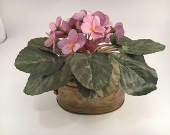 Vintage Artificial Flowers - Artificial Flowers - Artificial Flower - Artificial Purple Violet - Purple Violet - Artificial Plant - Violets