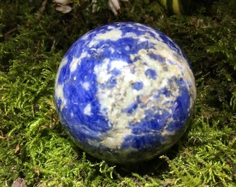 Lapis Lazuli Sphere - meditation focal point, scrying, psychic work, spiritual visions & insights