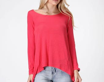 Coral High Low Hem Tunic