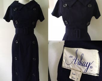 Xs/S 1950s An Arkay Wiggle Dress