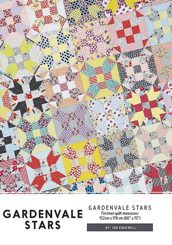 Gardenvale Stars - Pattern by Jen Kingwell