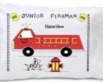 Firetruck Pillowcase- Travel Size