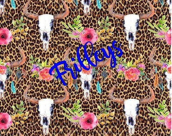 Cheetah, Cow Skull, FLoral, Cactus Flowers, Craft vinyl HTV or Adhesive vinyl