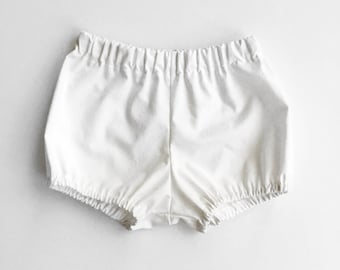 white bloomers - baby bloomers bubble shorts
