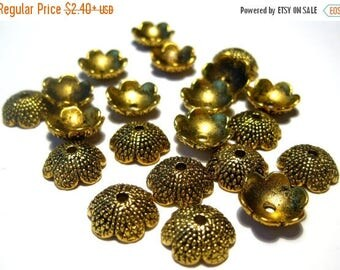50% OFF Clearance Sale-- Antique Gold Acorn Tops Bead caps