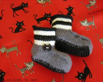 Booties wool 'Gothic Spider'