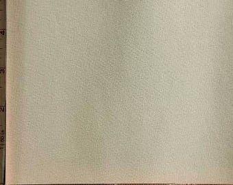 "Cream, Beige Ponte de Roma Novelty Fabric 2 Way Stretch Polyester 11 Oz 60-62"" 230610"