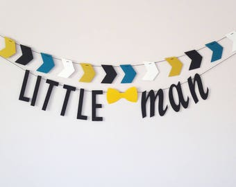 Garland, Little man baby shower, Birthday party decor, Nursery gift