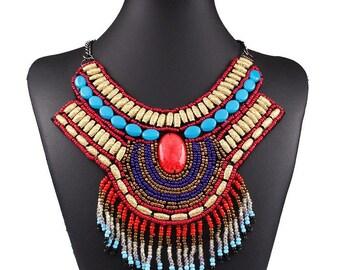 Boho Gypsy ethnic Fashion Coin necklaces Pendants Choker Vintage punk statement maxi Necklace