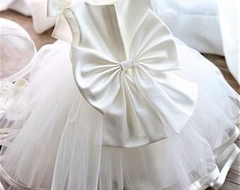 Baptism Dress, Christening Dress, Christening Dress, Baptism Dress, Wedding Dress, Flower Girl Dresses, Tutu Dress, Off-White Dress