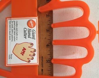 Vintage Wilton Orange Hand  Cookie Cutter
