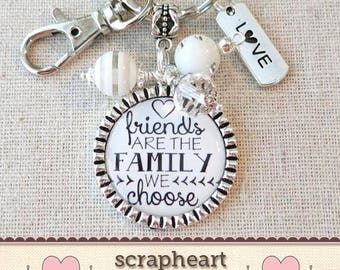 FRIENDS Are The FAMILY We Choose Gift, BFF Friendship Jewelry Gift, Keepsake Gift for Special Friend, Bridesmaid Best Friend ThankYou Gift