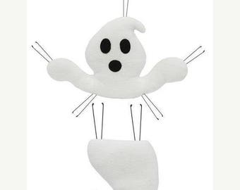 On sale Ghost wreath enhancement kit, plush ghost wreath, ghost wreath decor, ghost decor, Halloween wreath, Halloween decor, ghost decor, h