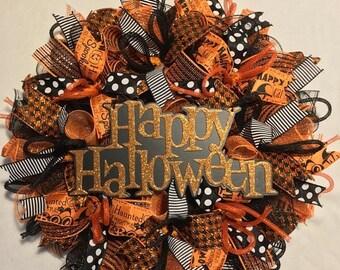 sale halloween wreath halloween wreath halloween wreaths wreath halloween decor halloween - Holloween Decor