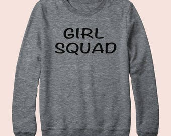 Girl Squad - Sweatshirt, Crew Neck, Graphic