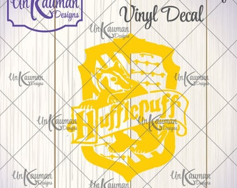 DIY...Iron On Heat Transfer Vinyl Harry Potter Inspired Hufflepuff Crest Decal #HPHC