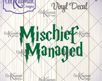 DIY Iron On Harry Potter Inspired Mischief Managed Vinyl Decal
