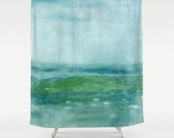 shower curtain, bathroom decor, modern shower curtain, sea shower curtain, ocean shower curtain, water sea waves dreamy