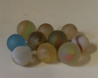 Beautiful Frosty  Lot of Sea Glass Marbles