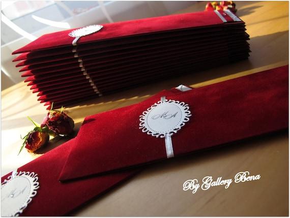 Velvet Wedding Invitations: Pocket Invitation Marsala Wedding Invitations Velvet Birthday