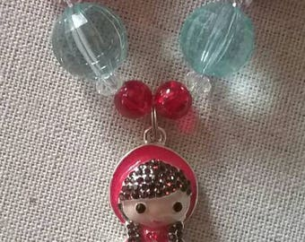 Little Red Riding Hood Bubble Gum Bead Necklace