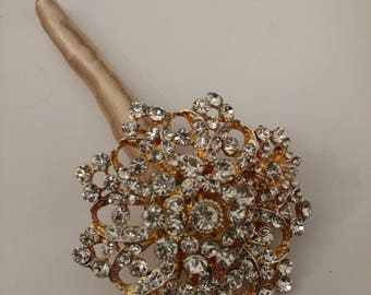 Beautiful Sparkly Brooch Boutonnière.