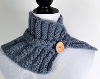 Winter Scarf,Warm Scarf,Grey Scarf, ,Hand Knitted  Scarf,Wool Scarf,Scarf For Women,Scarves,Handmade Scarf