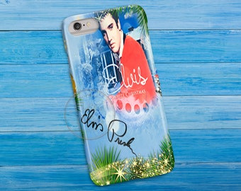 Elvis Presley Watercolor, 3D Phone Case, Iphone 6 7 7+ Samsung Galaxy S5 Thin Hard Case, Personalized Mobile Full Wrap, Elvis Christmas