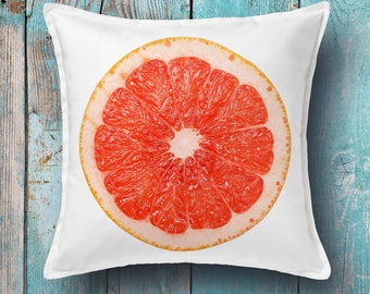 Grapefruit cushion cover - decorative pillow cover, throw pillow cover, pillow cover