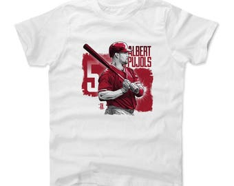 Albert Pujols Square R Officially Licensed Los Angeles A Kids T-shirt
