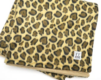 2 x 4 C&C cage liner- guinea pig fleece - brown cheetah  - guinea pig accessories - premade cage mat - cage lining - blanket - READY TO SHIP