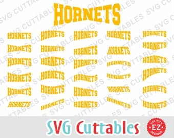 Hornets EZ layouts svg, dxf, eps, Set of 30 layout vectors, Digital cutting file