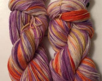SALE ** Hand Dyed Yarn  worsted weight 100% merino wool | 100 grams  | Sunrise Surprise |  Free shipping in US