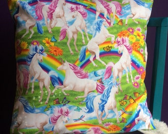 Unicorns & Rainbows Cushion Cover