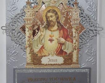 Religious Christmas greeting card