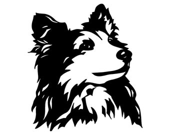 Shetland Sheepdog Car Decal