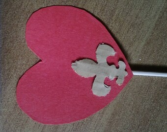 heart cupcake topper decorations