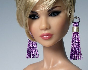 1/6 Scale TASSEL Earrings For FR2 Nu Face Poppy Barbie Dolls Choose color