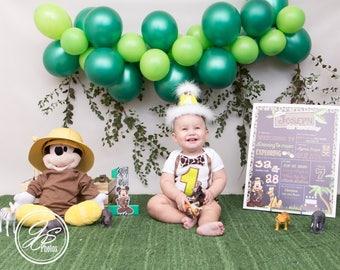 SALE Mickey Mouse Safari Animal Kingdom chalkboard/ First Birthday/ Minnie Safari Birthday Chalkboard/Printables
