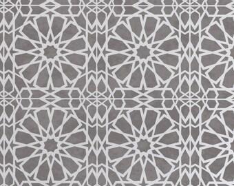 Zagora Moroccan Tile Stencil - Mosaic Floor Wall Furniture Tile Stencil - ZAGO01