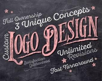 Logo Design, Logo Design Custom, Custom Logo Design, Watercolor logo, Retro Logo, Logo Stamp, Vintage, Hand drawn, Logo Designer