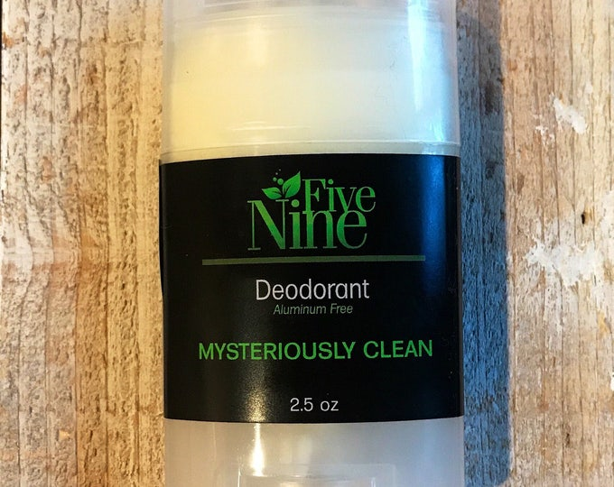 Deodorant Men's Deodorant Aluminum Free Paraben Free Cruelty Free Phthalate Free Coconut Oil Mysteriously Clean Five Nine