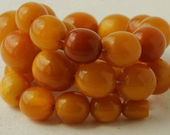 Antique Natural Baltic Amber Beads Gorgeous Necklace 84.27 gr 古董天然波罗的海琥珀
