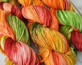 Falling Leaves Hand Dyed Worsted Weight Yarn